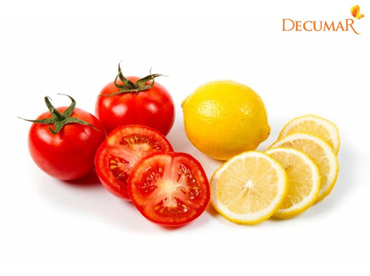 Mặt nạ trị mụn bằng chanh và cà chua