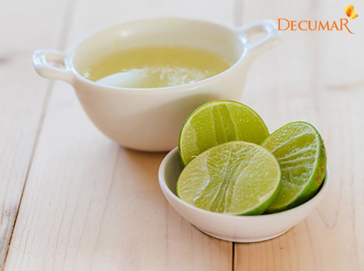Sử dụng nước cốt chanh trực tiếp trên da