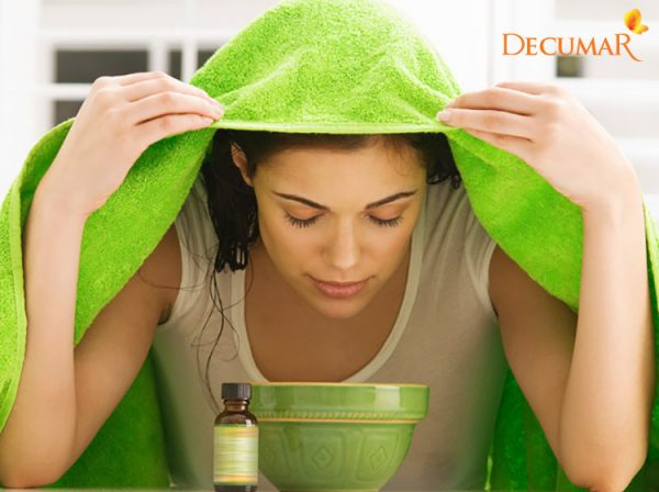 Xông hơi da mặt giúp cho da giãn nở, từ đó giúp cho nhân mụn dễ dàng trồi lên hơn