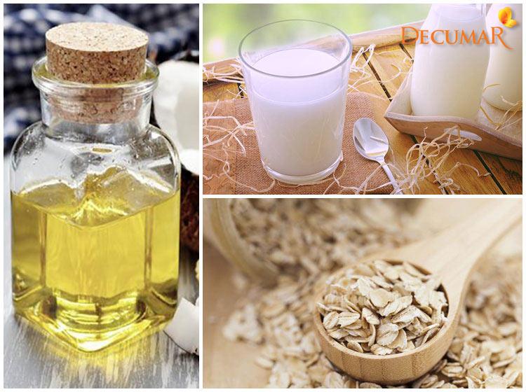 Mặt nạ dầu dừa sữa tươi và yến mạch