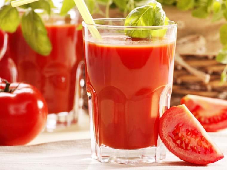 Nước ép tốt cho da mụn | Cà chua