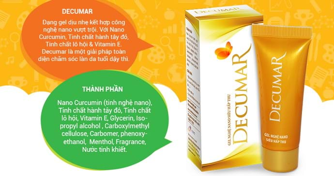 Trị mụn bằng gel Decumar giúp trị mụn hiệu quả