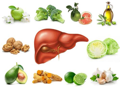 Các thức ăn tốt cho cơ thể đặc biệt là gan, hỗ trợ điều trị mụn bọc rất tốt