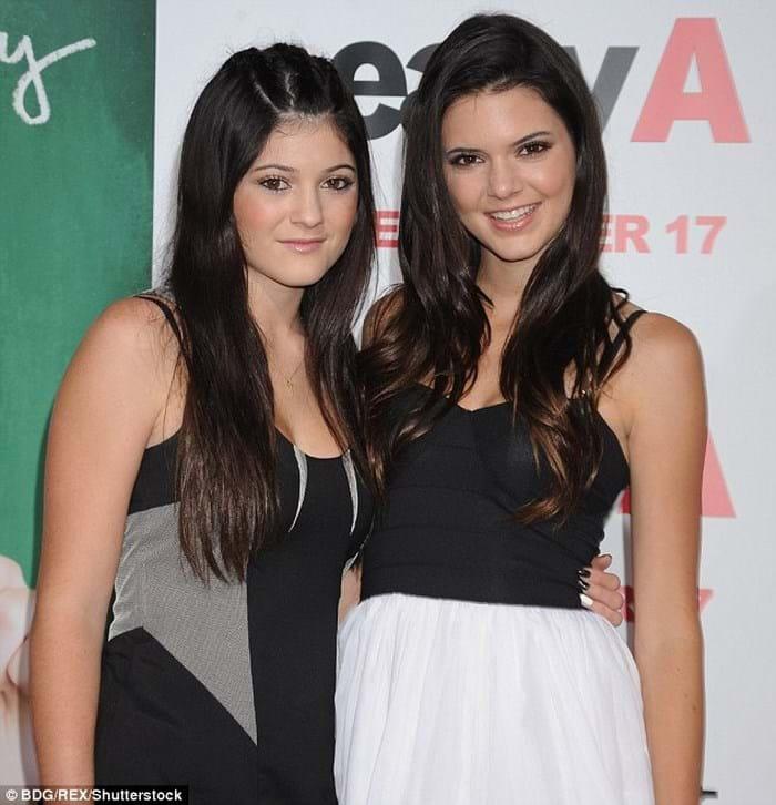 Kendall và Kylie trước kia...