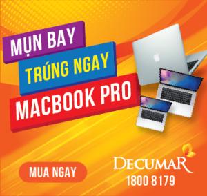 Cào ngay, trúng liền tay Macbook Pro của Decumar