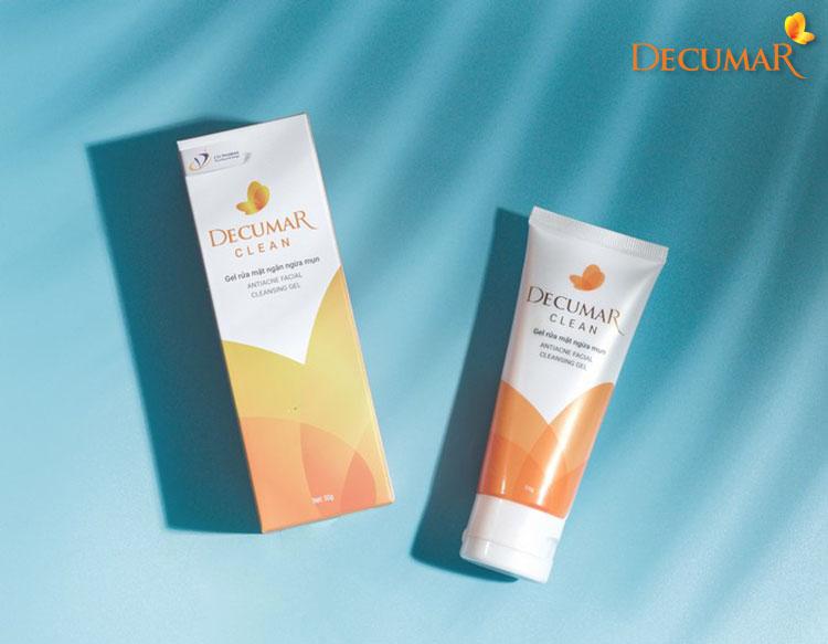 Decumar clean là một trong các sản phẩm sữa rửa mặt ngăn ngừa mụn trắng da có chiết xuất từ nghệ