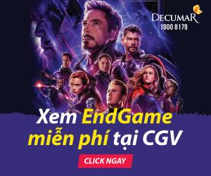 HOT CHƯA TỪNG CÓ:  Tặng 1000 vé xem phim END GAME khi mua DECUMAR