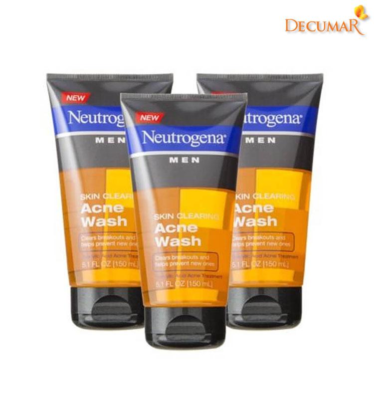 Sữa rửa mặt ngừa mụn Neutrogena Men Skin Clearing Acne Wash