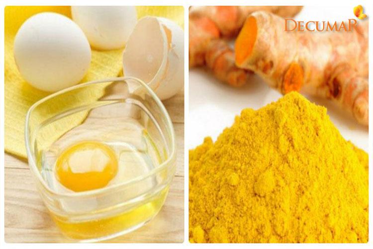 Mặt nạ bột nghệ và lòng đỏ trứng gà