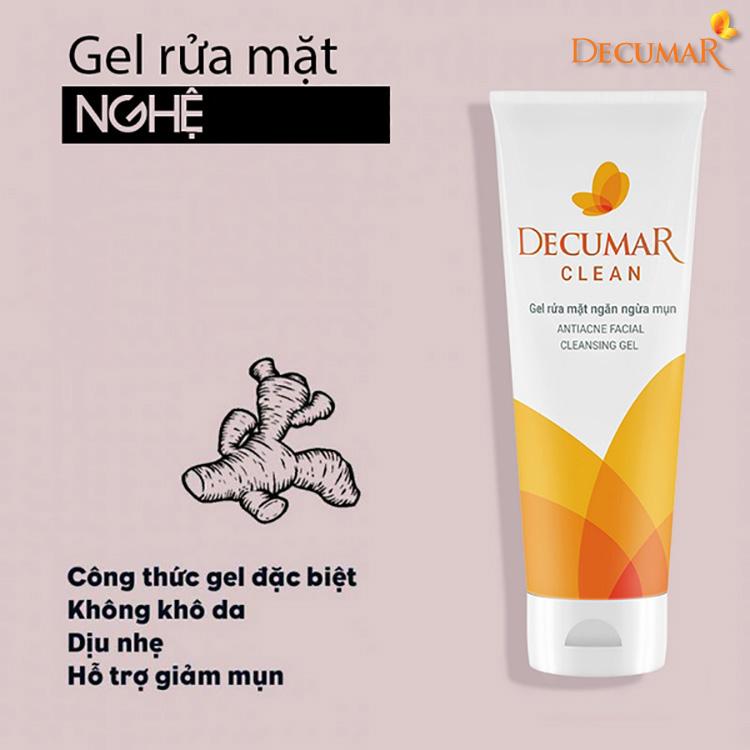 Sữa rửa mặt ngừa mụn dưỡng ẩm Decumar