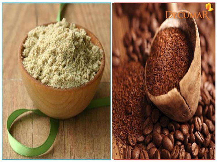 Trị mụn viêm bằng cám gạo và cà phê