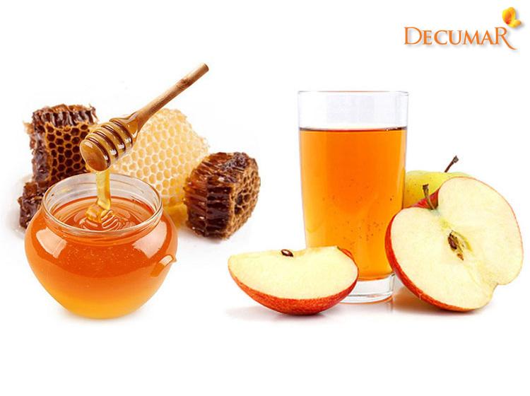 Công thức trị mụn ẩn giấm táo và mật ong