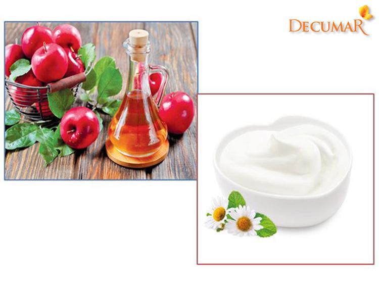 Giấm táo và sữa chua