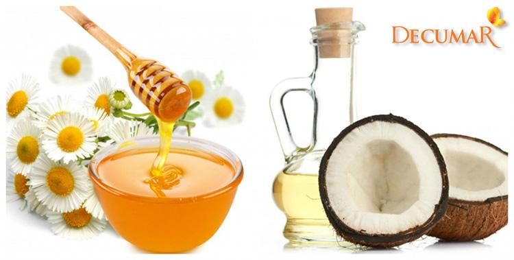 Mặt nạ trị mụn viêm bằng mật ong và dầu dừa