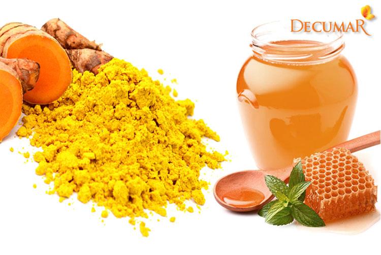 Công thức trị sẹo mụn bằng nghệ và mật ong
