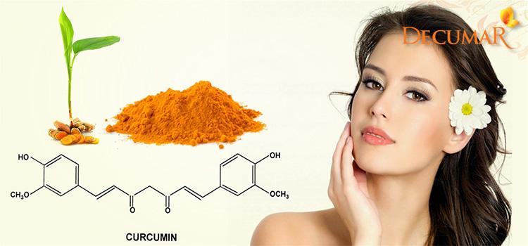 Cucurmin trong bột nghệ giúp trị nám