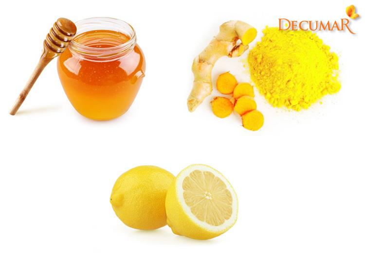 Mặt nạ tinh bột nghệ, mật ong và chanh