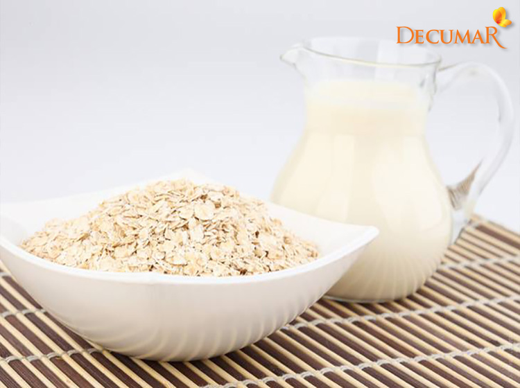 Yến mạch và sữa tươi trị sẹo thâm mụn trên da hiệu quả