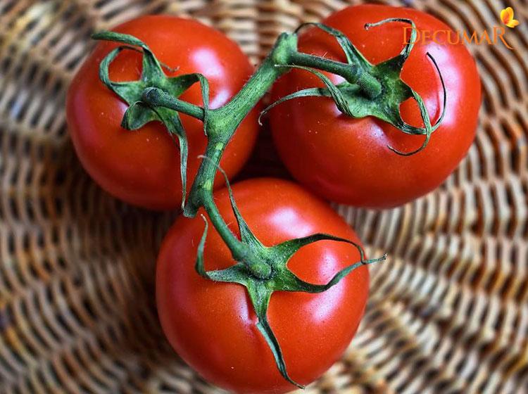 Cà chua giúp nuôi dưỡng làn da khỏe mạnh trắng sáng, sạch mụn