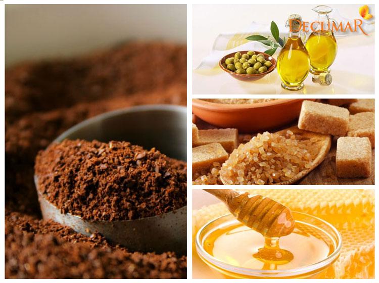 Cà phê, đường nâu, mật ong và dầu oliu