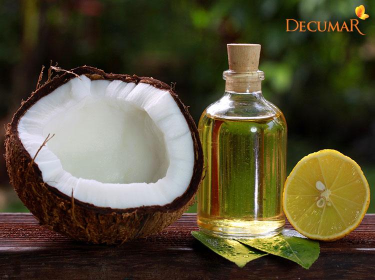 Trị mụn viêm bằng dầu dừa và chanh tươi