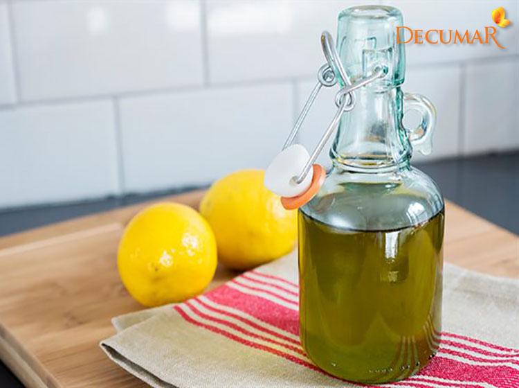 Công thức dầu oliu và chanh trị sẹo thâm mụn hiệu quả