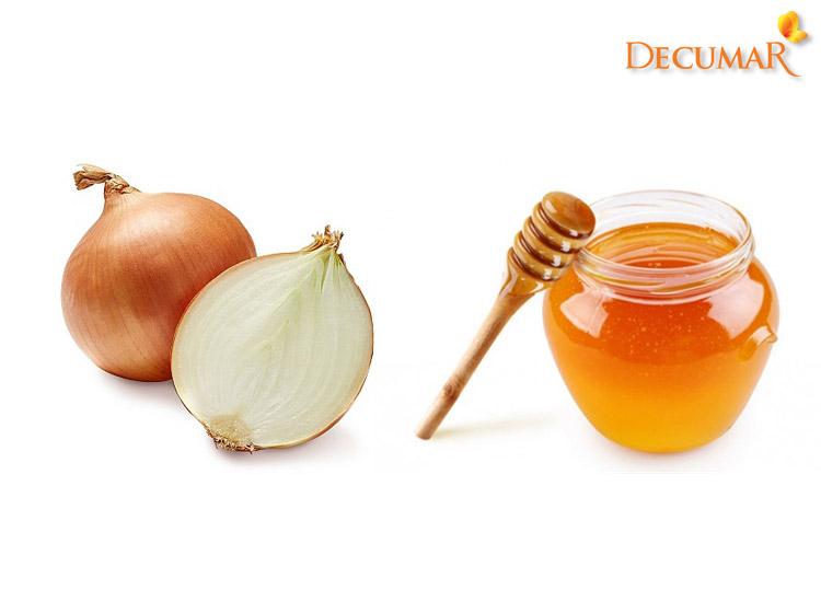Hành tây và mật ong trị sẹo thâm