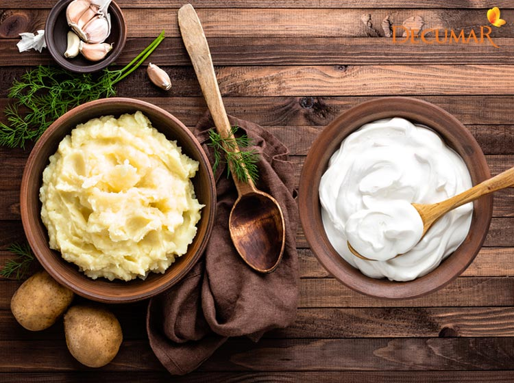 Mặt nạ khoai tây sữa chua trị mụn cám