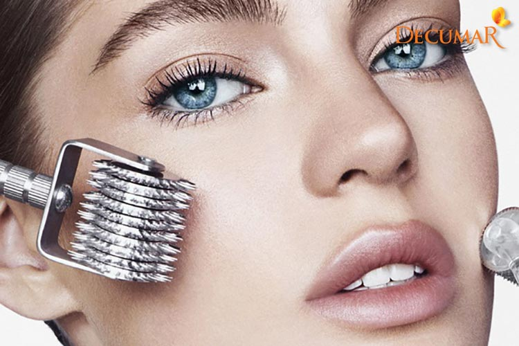 Phương pháp lăn kim dựa trên cơ chế tự làm lành của da giúp trị sẹo thâm