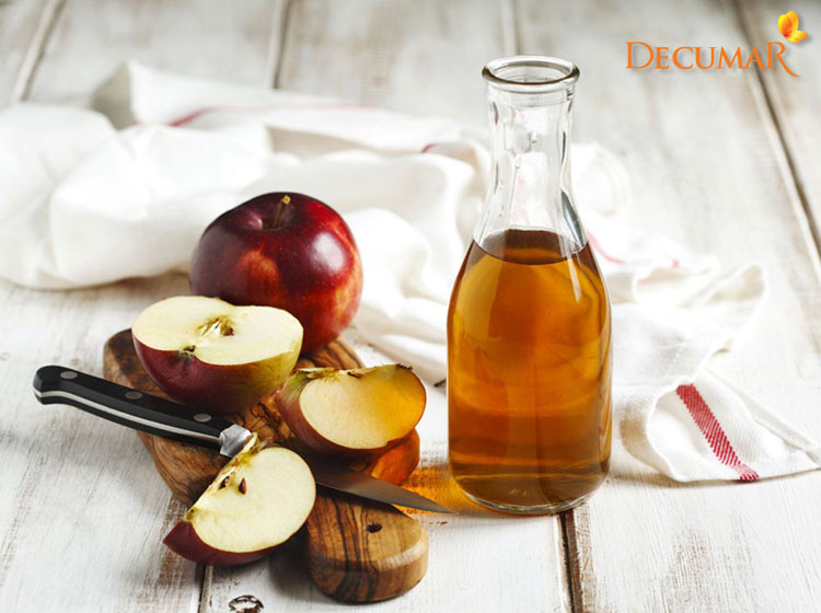 Giấm táo trị sẹo thâm ở lưng