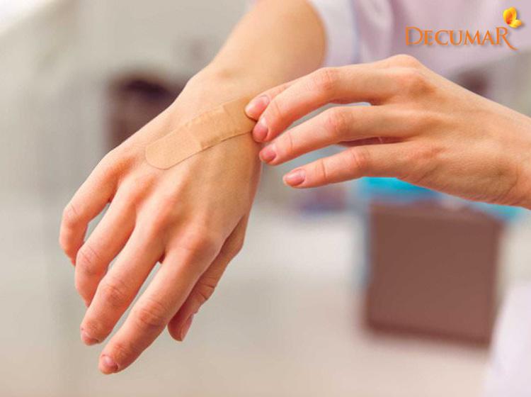 Xử lý khi da mỏng bị trầy xước