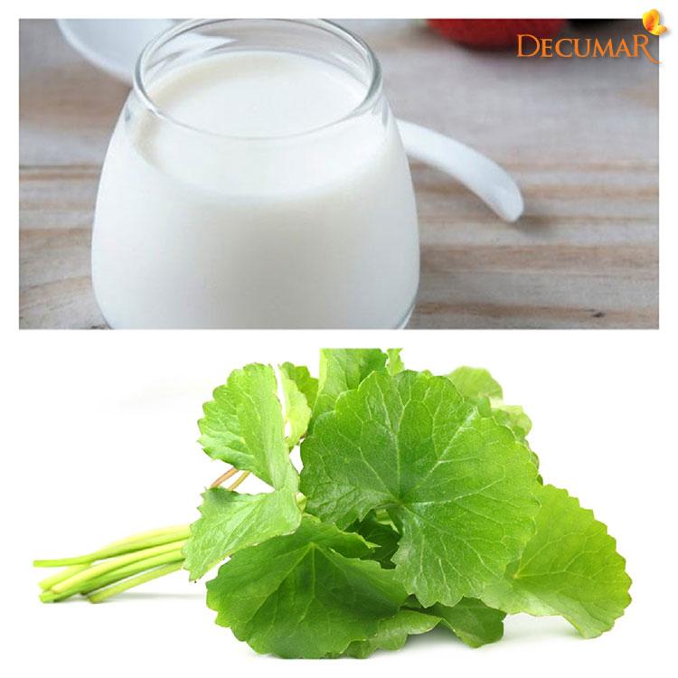 Rau má và sữa chua