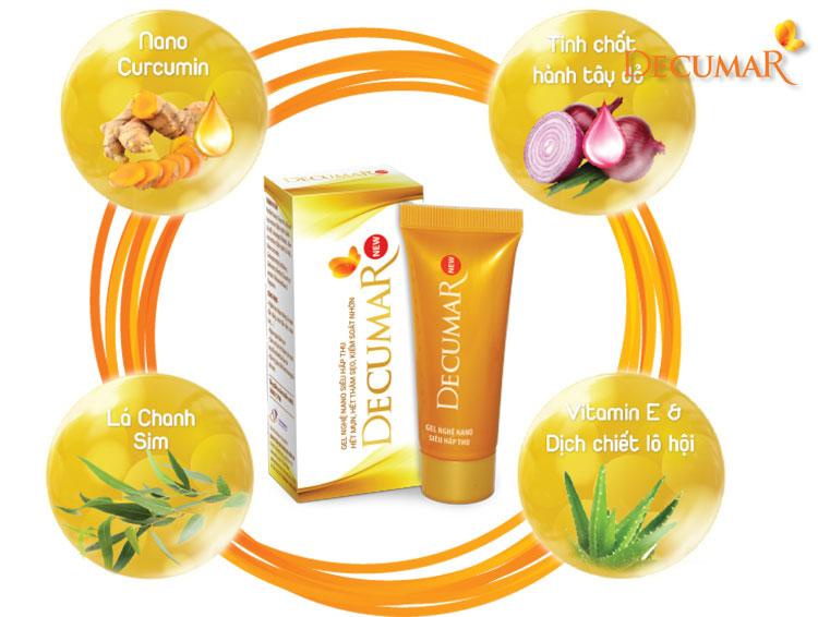 Decumar New - sản phẩm mới đặc trị sẹo thâm cho làn da với thành phần thiên nhiên