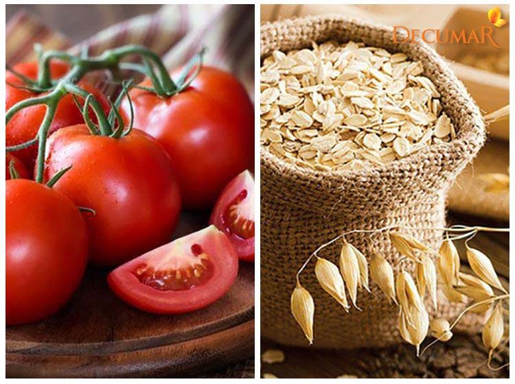 Cà chua và bột yến mạch