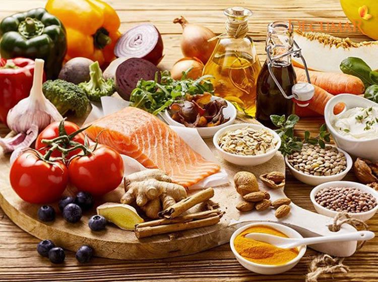 Chế độ dinh dưỡng bổ dung nhiều hạt, rau xanh