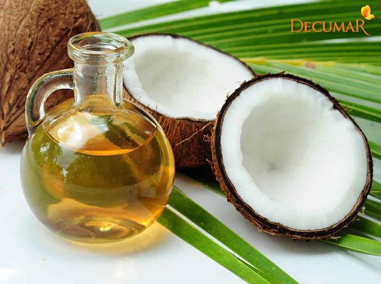 Dầu dừa giúp trị mụn và mờ vết thâm