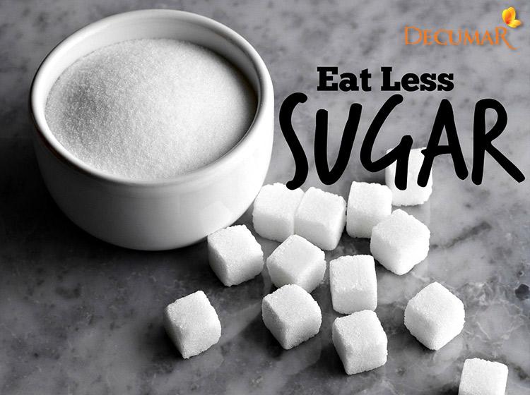 Giảm tiêu thụ đường trong chế độ ăn trị mụn thâm
