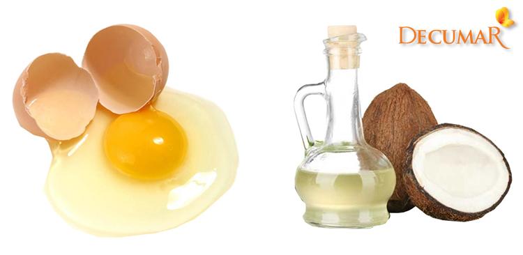 Mặt nạ dầu dừa và lòng trắng trứng