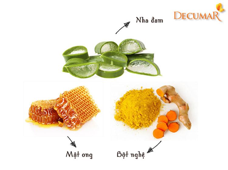 Nguyên liệu tự nhiên trị mụn viêm lưng