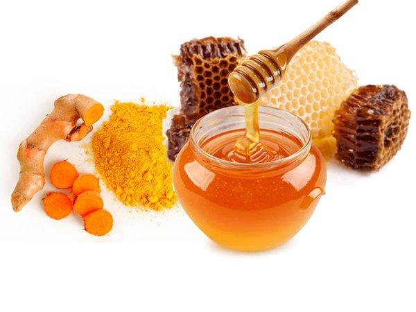 mật ong và nghệ