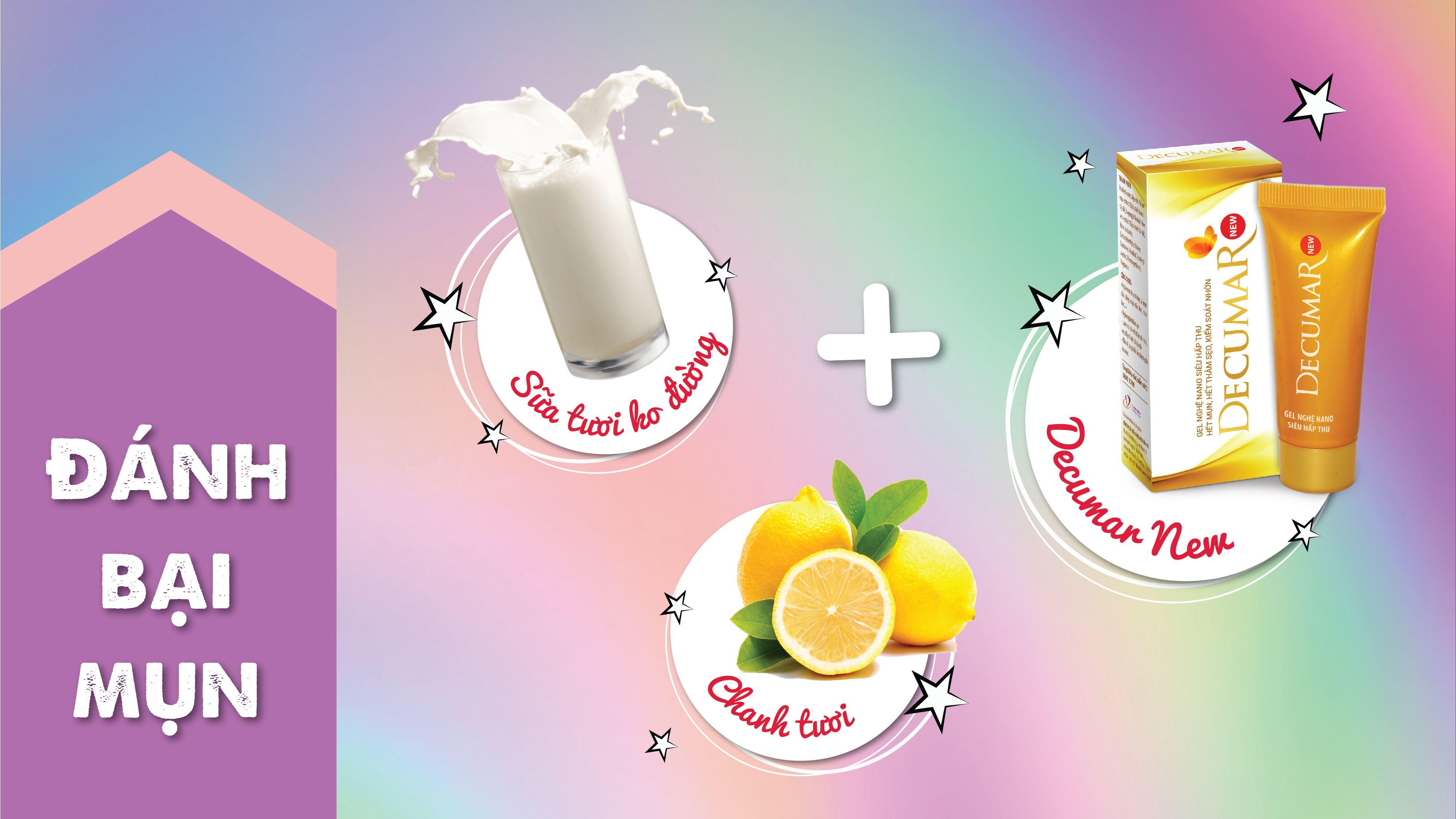 Mặt nạ Decumar New với sữa tươi và chanh