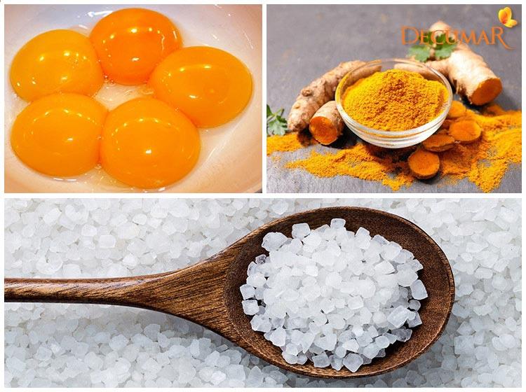 Mặt nạ nghệ, trứng và muối tinh thổi bay mụn và vết thâm, đồng thời cải thiện tình trạng da hiệu quả