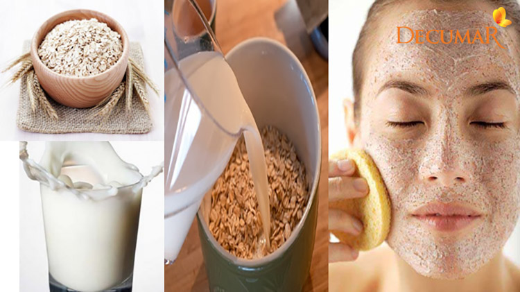 Bên cạnh trị thâm mụn, sữa và yến mạch còn giúp bạn giữ ẩm cho làn da một cách tối đa