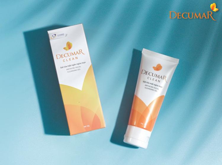 Gel rửa mặt ngừa mụn Decumar Clean an toàn, lành tính với mọi loại da