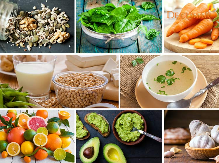 Thực phẩm giàu collagen tốt trong chế độ ăn trị mụn thâm