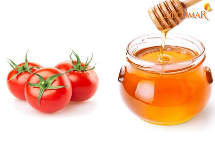 Trị mụn bằng mật ong và cà chua