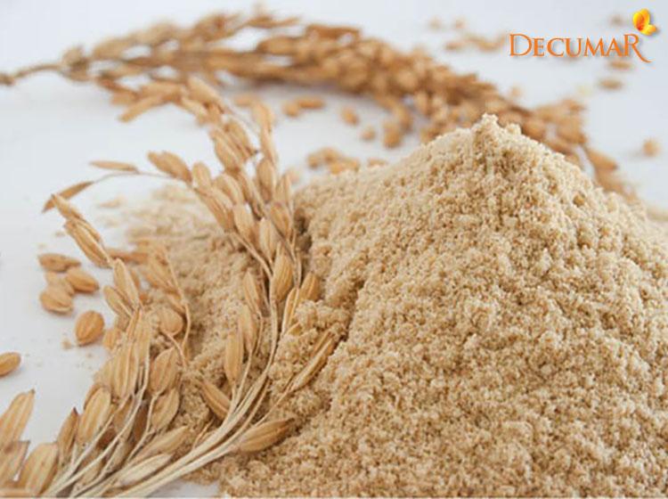 Trị mụn viêm bằng cám gạo