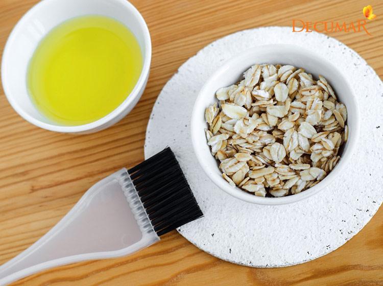 Mặt nạ bột yến mạch và dầu oliu