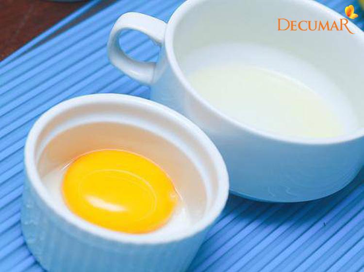 Mặt nạ lòng đỏ trứng gà và sữa tươi