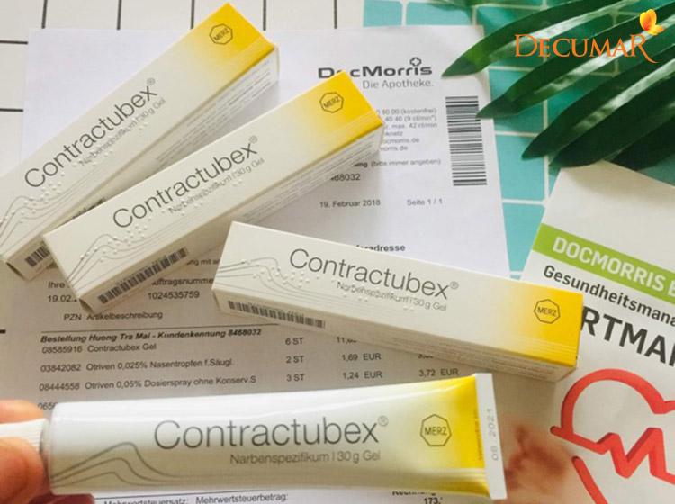Thuốc trị thâm sẹo rỗ Contractubex